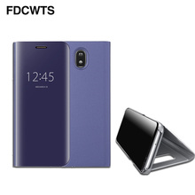 FDCWTS Flip Cover Leather Case For Samsung Galaxy J3 2017 J5 2017 J7 2017 J330F J530F J730F Clear View Phone Case U.S. Edition(China)
