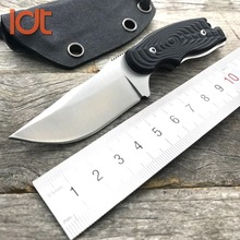 LDT Civet Bowie Mini Straight Knife G10 Handle 7Cr13Mov Blade Hunting Camping Survival Knives Pocket Military Knife EDC Tool(China)