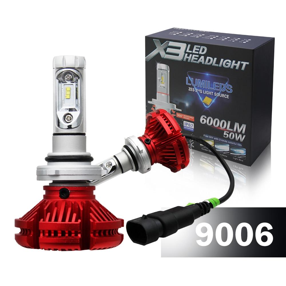 CO LIGHT Hb4 Led Headlight 50W 9006 Bulb Single Beam 3000K/6500K/8000K Diy Free 6000Lm 12V 24V Car Styling X3<br>