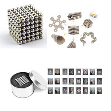 Children's intelligence learn toys Silver Magic Magnet Magnetic DIY Balls Sphere Neodymium Cube Puzzle kids Birthday gift(China)