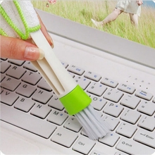 1PC HOT Fashion Universal Keyboard Dust Air-condition cleaner Car Computer Cleaning Tool Window Blinds Brush(China)