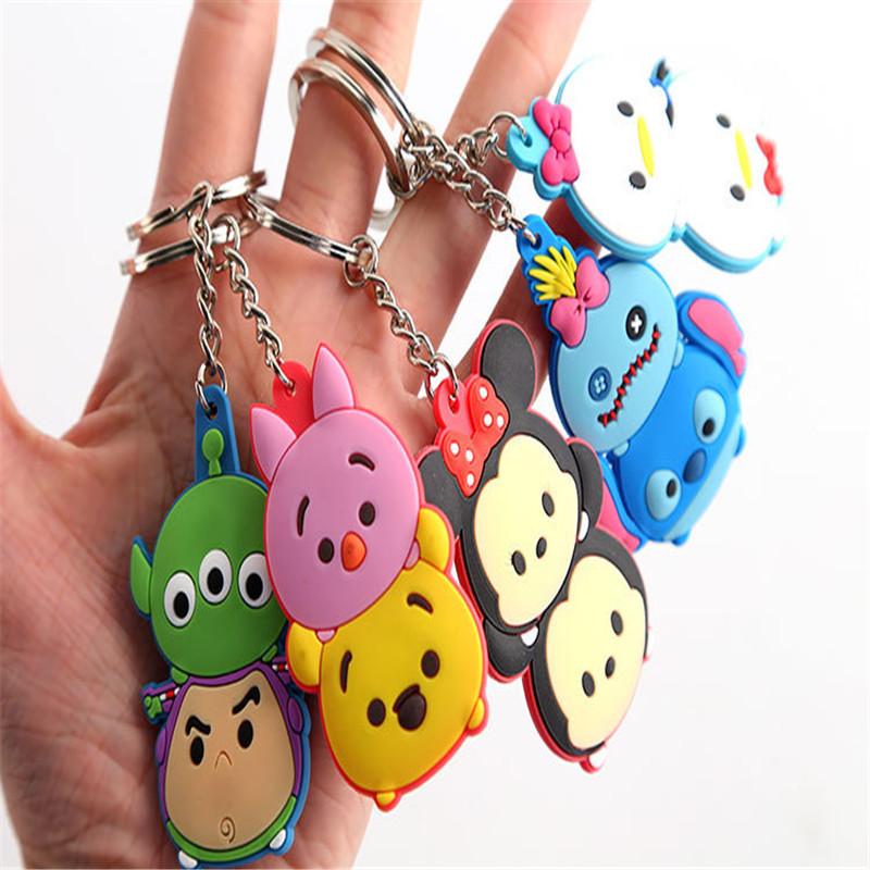 1PCS-Lovely-Cartoon-TSUM-TSUM-Mickey-Minnie-Donald-Bear-Cartoon-Doll-Keychain-Car-Key-ring-Bag