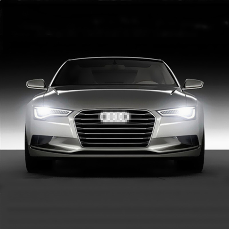 1pcs Super Bright Car Front Grille LED Logo Light for Audi Q3 Q5 A1 A3 A4 A5 A6 A8 4D Led Emblem 27*9.5cm(China (Mainland))