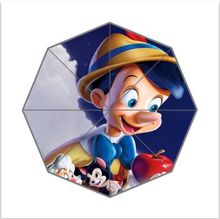 New Arrival Custom Unique Umbrella The Adventures of Pinocchio Foldable Umbrella