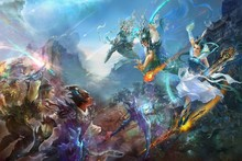 Weapons fantasy art armor battles jade dynasty artwork cloth silk art wall poster and prints(China)