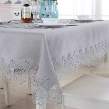 New Square Gray embroidery Tablecloth table cloth dinner mat Garden Europe  Cabinet Mat table cover wholesale FG604