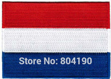 "3.5"" NETHERLANDS FLAG DUTCH EMBROIDERED PATCH FRANCE EMBLEM applique Holland Iron-on Sew-on Football Uniform SHOULDER"