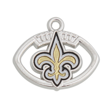 HAEQIS Wholesale Sport Alloy New Orleans Saints Football Team Sign Charms Logo Charms 20pcs AAC663(China)