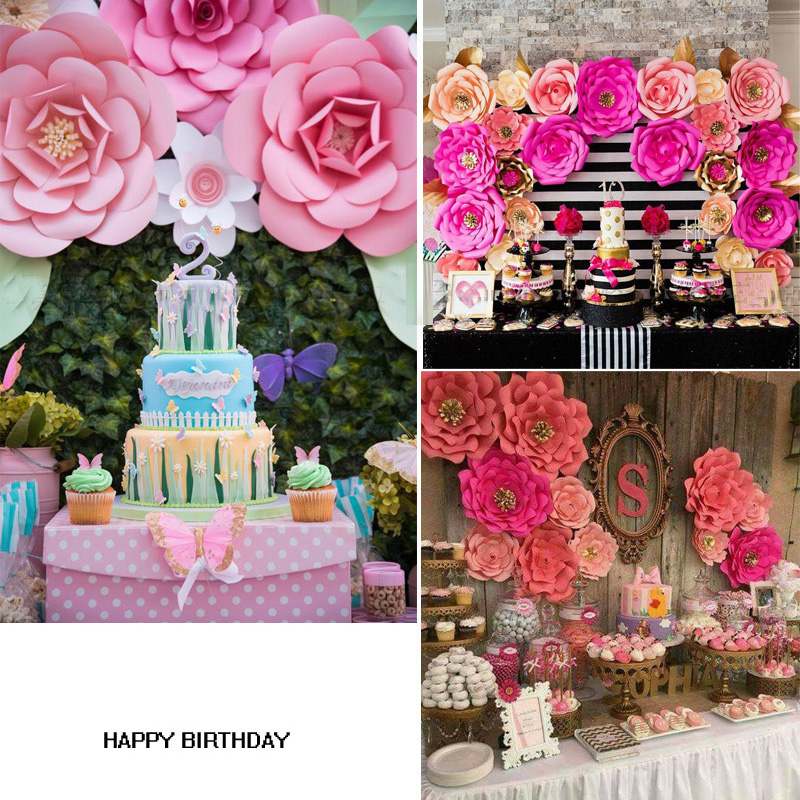 2018 20cm diy paper flowers backdrop decor hen party kids birthday notethis is a diy floweryou have to put the pieces together make the flower mightylinksfo