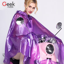 2017 fashion  Electric vehicle  raincoat  Four colors  XL Size  100% PVC Texture of material