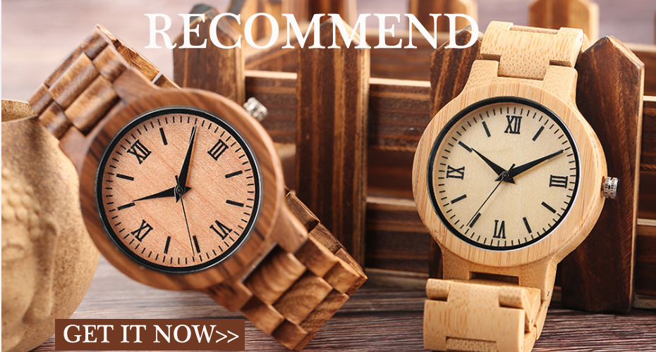 YISUYAสร้างสรรค์ไม้นาฬิกาฉลามปลาบุรุษสตรีธรรมชาติไม้ไผ่ไม้ควอตซ์นาฬิกาข้อมือสบายๆหนังโชคด... 2