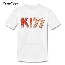 Rock Band Kiss Boy Girl T Shirt Baby Tees 2017 Infant Cotton Tshirt O Neck Kid children's T-shirt For Toddler