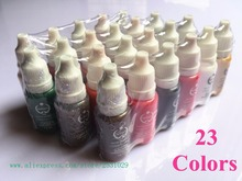23pcs Tattoo Inks Colors Permanent makeup pigments For Eyebrow Eyeliner Lip 1/2 OZ Each Bottle Complete Cosmetic Tattoo Ink Set
