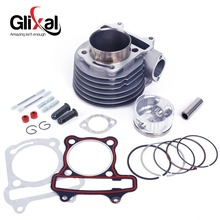 Glixal GY6 180cc Chinese Scooter Engine 61mm Big Bore Cylinder kit with Piston Kit for 4T 157QMJ ATV Go Kart Moped