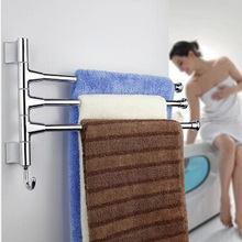 Stainless Steel 2/3/4 Layers Shower Towel Bar Rotating Towel Rack Bathroom Kitchen Towel Polished Rack Holder Hardware Accessor(China)