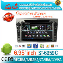 For Car DVD central multimedia for android 6.0 8-core OPEL VECTRA with bt/radio/tv/gps/3g/wifi/android headunit from LSQ Star