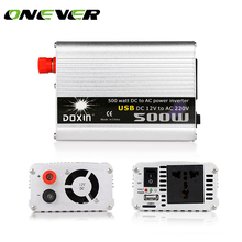 Onever 500W Car Inverter DC 12V to AC 220V 50Hz Modified Sine Wave Power Car Inverter with USB 5V Output car charger(China)