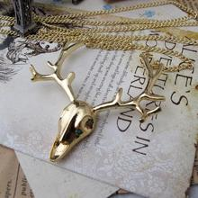 Fashion Vintage Long Deer Necklaces Pendants Jewelry Charms Necklaces For Women Jewellery