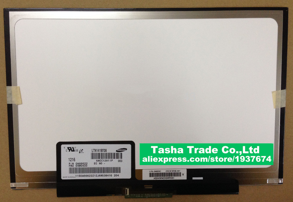 Brand New LTN141BT08 LCD Screen For Thinkpad T410S T400S LCD Laptop  Screen 1440*900<br><br>Aliexpress