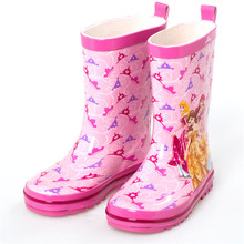 Waterproof Kids Rubber Boots Jelly Soft Infant Shoe Girl Boots Baby Rain Boots With Catoon Pattern Girls Children Rain Shoes(China)