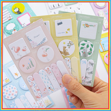 4Pcs Kawaii animals memo pad Mini post it Flamingo Squirrel schedule diary sticker planner note Stationery School supplies 01929(China)