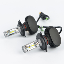 Os High/Dipped Beam H4 Led Car Bulbs 6500K SUV Headlight Kits 2WD/4WD Automobile Head Light 50W/Pair Fan-less CSP Chips lamp
