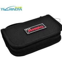 Trulinoya black spoon package and sequins fishing gear pocket in large capacity package fishing lure bag