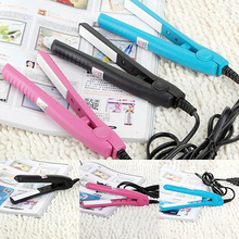 Hot item!US Plug Mini Travel Ceramic Hair Crimper Curl Straightener Flats Iron Perm Splint