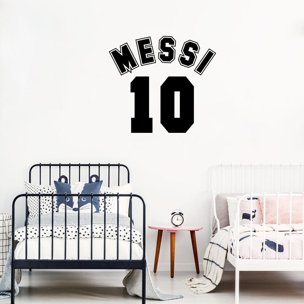Enorme Vinilo Pegatina Calcomanía Pared Arte Messi//cueva de hombre