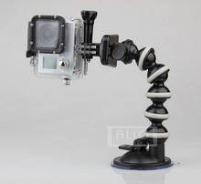Flexible Gooseneck Car Sucker Mount Holder for Gopro Hero 5 4 3 HD SJ4000 SJ5000 SJ6000 Mini Camcorder Camera Accessories
