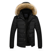 2017 New Men's Coats & Jackets Winter Hot Sale Men Parkas Warm and Comfortable Middle-aged Man Good Choice Black Wine Red Blue S(China)