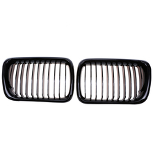 2Pcs Front Car Gloss Black Center Wide Kidney Hood Grille Grills For BMW 3-Series E36 M3 Coupe 1996-1998 facelift Mesh Grill