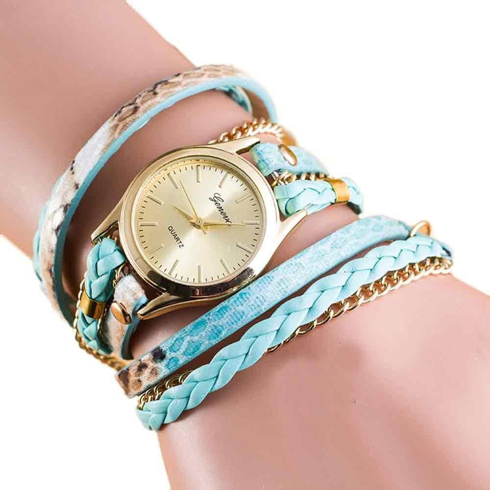 New Fashion Wrap Around Bracelet Watch Synthetic Leather Chain Watch    new design 2016  Nov30 send in 2 days<br><br>Aliexpress