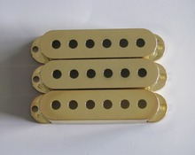 KAISH Gold 50mm Pole Spacing 3 Single Coil ST Guitar Pickup Covers(China)