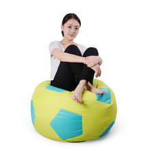 Cover only No Filler- 50cm in diameter football bean bag chair , cotton beanbag(China)