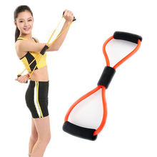 1 pc Resistance Training Bands Rope Tube Workout Exercise For Yoga 8 Type Hot Sale fitness accessories(China)