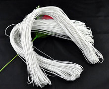 DoreenBeads 80M Wholesale White Waxed Cotton Necklace Cord 1mm (B08086), yiwu