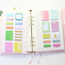 Cute colorful office school memo pad stationery supplies,candy self-adhesive sticky index paper note pad set for notebook,280pcs(China)