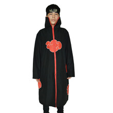 2de0c10e09315 NARUTO Cosplay Anime Cosplay Naruto Akatsuki organización mantón hombres y  mujeres capa negro pareja capa