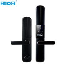 BIOS Electronic Biometric Intelligent Smart Door Lock Pick Digital Touch Screen Cylinder Fingerprint+Password+RFID Code+Key Safe(China)