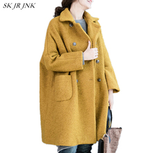 Buy Women Wool Coat 2017 New Autumn Winter Fashion Warm Turn-down Collar Coat Loose Casual Female Wool Blend Parkas Plus Size LYL246 for $62.39 in AliExpress store