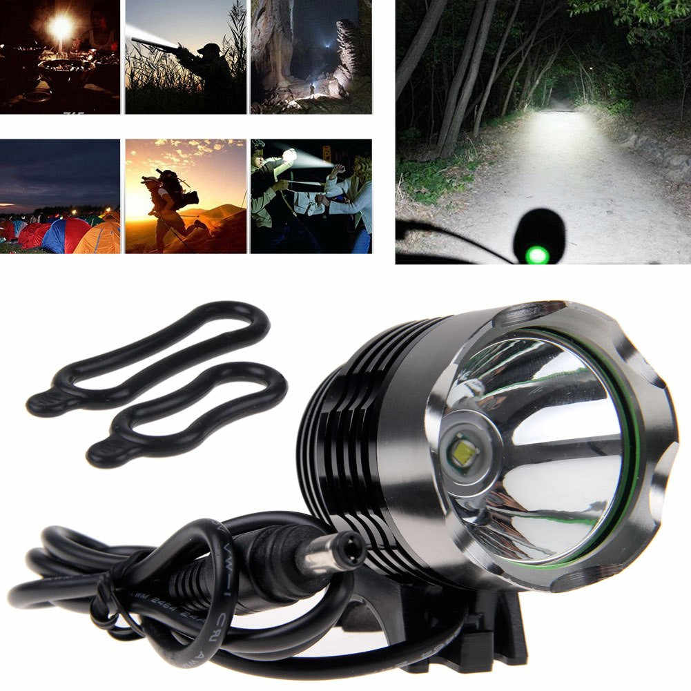 Outdoor 5 Led Bicycle Front Head light+Tail light Waterproof Lamp Flashlight SSC