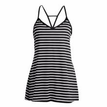 Buy Lady Sexy V-neck Halter Vest Dress Sleeveless Black White Stripes Mini Dress