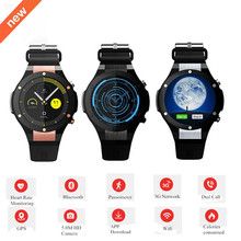 2017 Latest Android 5.1 MTK6580 1GB 16GB Smart Watch Clock H2 With GPS Wifi 5MP Camera Smartwatch For Android iOS Phone Newset