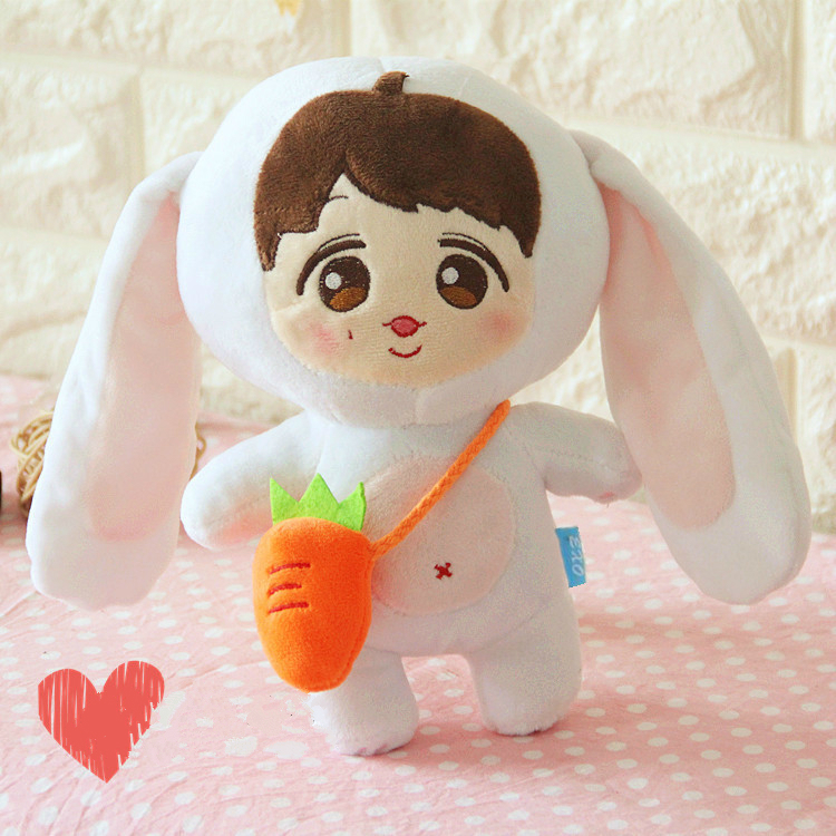 New Cute EXO Doll Lovely Rabbit With Long Ears Rabbit Plush toy Soft Stuffed doll Pillow Baby Appease doll Kids Gifts Fans Gift<br><br>Aliexpress