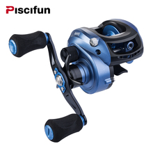 Piscifun Mate Low Profile Baitcasting Fishing Reel 7.1:1 Gear Ratio 11+1 Ball Bearings Baitcaster 11Lbs Power Disk Drag