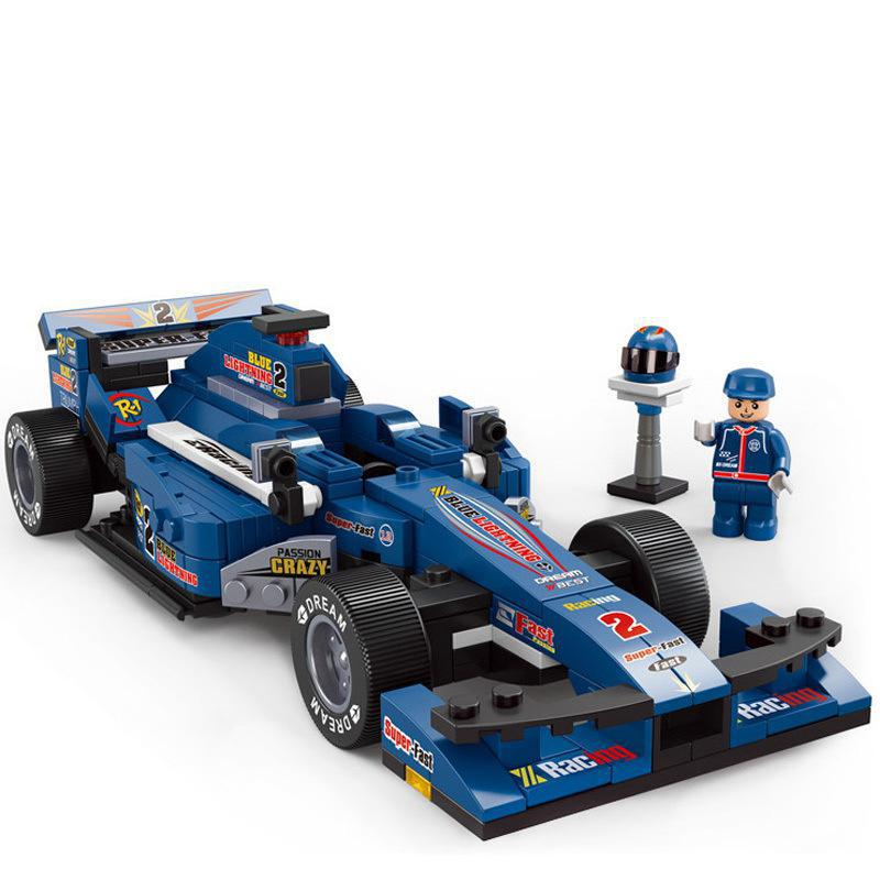BOHS Building Block Formula 1:24 Blue F1 Racing Children Toys<br><br>Aliexpress