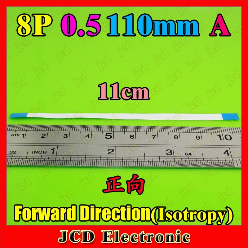 100pcs 8p 110mm 0.5 A Forward (Isotropy) FFC/FPC flat line 8-core 11cm 0.5 Ribbon Cable for HP Laptop DV series,PX-005(China (Mainland))