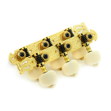 2 per set High end Classical Guitar Tuning Pegs Machine Heads Tuning keys Gold color(China)