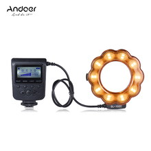 Andoer SL-102C GN15 Macro Ring Flash Light Fill-in Light 20pcs LED Lamp LCD Display for Canon Nikon Pentax Olympus DLSR Camera(China)
